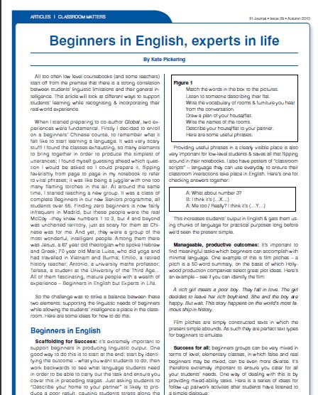 english texts for beginners pdf