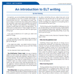 An introduction to ELT writing by Kate Pickering
