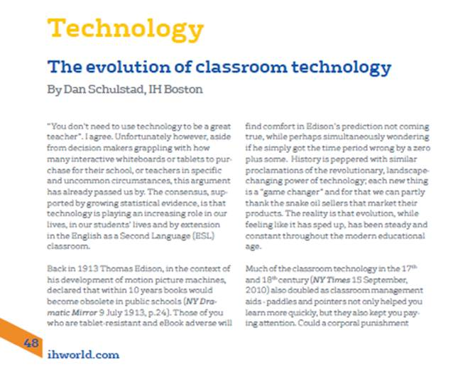 research paper on using technology in the classroom