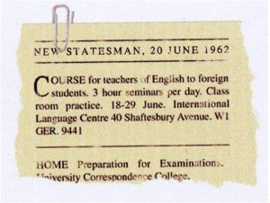 History Pioneering Teacher Training advert New Statesman