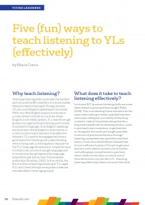 Five (Fun) Ways to Teach Listening to YL (Effectively) – by